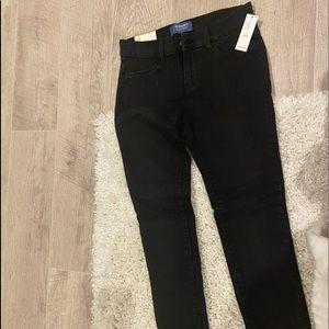 Girls old navy adjustable waist black jeans